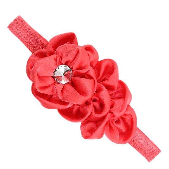 YOST Bandeau des Fleurs pour Bebes Filles Mousseline de Soie Beaute(pasteque rouge)