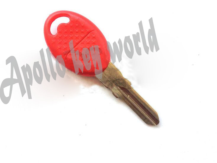 Motorbike Key Embryo Motorcycle Key Blank Uncut Key Blade For Aprilia SXV550 SMV750 <font><b>1200</b></font>(Red Color) image
