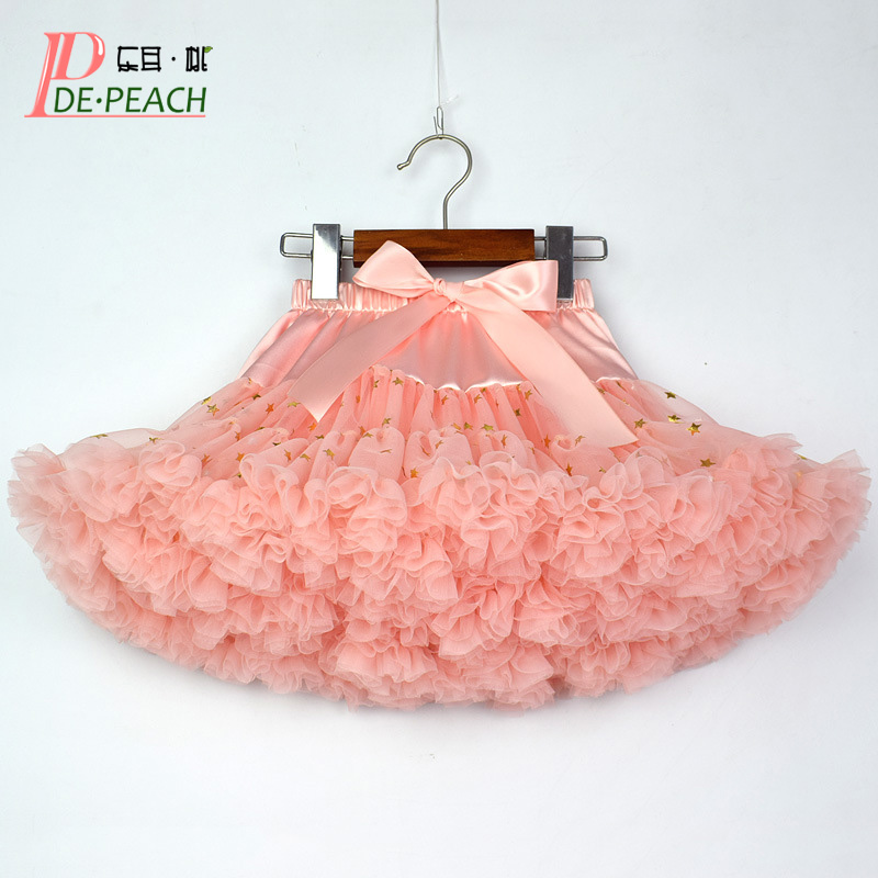 16e265c29a4f8 DE PEACH New Fashion Baby Girls Tutu Skirt Sequins Tulle Lace Kids  Pettiskirt Bow Children Party