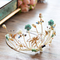 High-end European Nature Crystal Great Crown Gold Dargonfly Tiara  Brides Hairbands Evening Hair Accessories