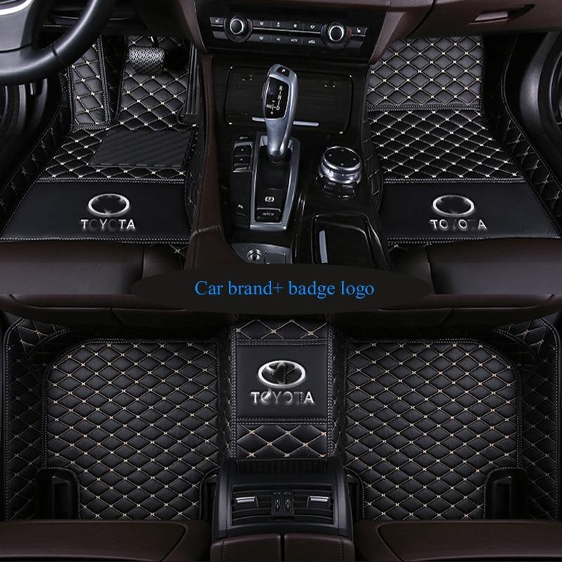 Custom fit car floor mats for Mitsubishi badge logo Lancer Galant ASX Pajero sport V73 V93 3D car styling carpeted floor liner custom rubber car floor mats for mitsubishi asx waterproof durable carpets for asx