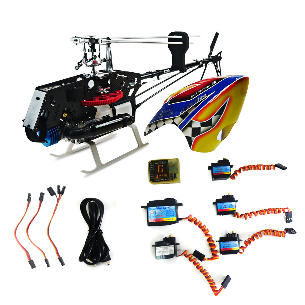 480N Fuel RC Nitro Helicopter KIT Aircraft RC Nitro/480N Frame kit with Servos + Gbar Gyro Power-driven Helicopter Drone двигатель super tigre 18 nitro купить