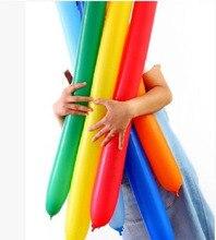 100pcs/lot Mix color 360N long balloon birthday wedding party festival decoration latex big magic balloon modeling