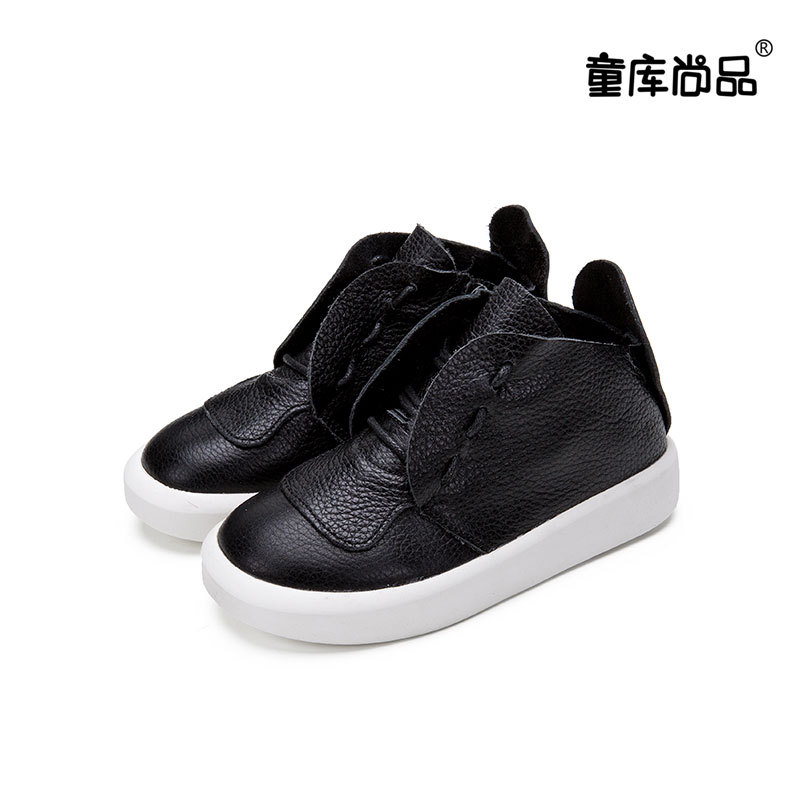 2017 New Children Side Zipper Shoes Kids New Genuine Leather Casual Shoes Boys Girls Brand Fashion Sneakers aadct spring new travel children shoes low cut casual boys running shoes real leather kids shoes for little girls brand