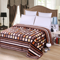 Plaid Bedding 100 Polyester Fleece Blanket On The Bed 100 Polyester Upgraded Flannel Blanket Throw Blanket