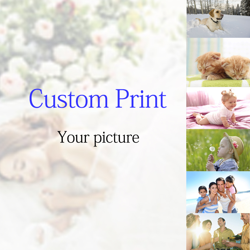 Canvas Silk Custom Print Family Photographing Commemorative Poster Baby Child Picture Customer Wall Art
