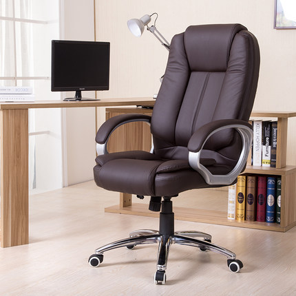 High Quality Ergonomic Leather Executive Office Chair Computer Chair Lifting Rotatable Swivel Lifting Adjustable Elevated Seat 240337 ergonomic chair quality pu wheel household office chair computer chair 3d thick cushion high breathable mesh