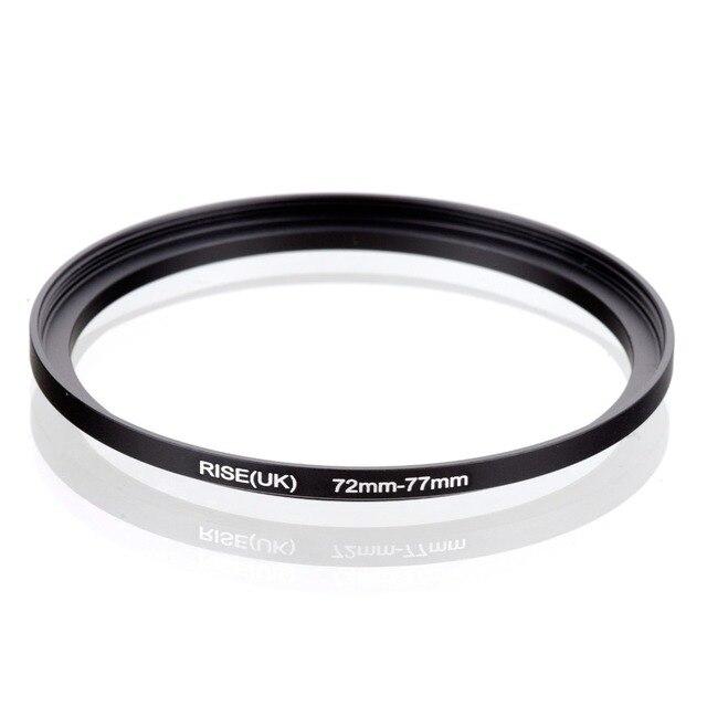 Orijinal RISE (İngiltere) 72mm 77mm 72 77mm 72 77 Step Up halka filtre adaptörü siyah