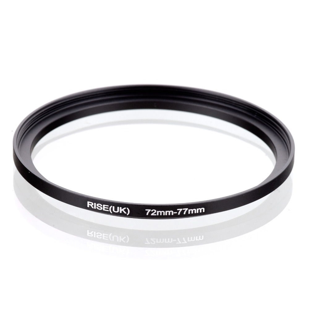 Original RISE(UK) 72mm-77mm 72-77mm 72 To 77 Step Up Ring Filter Adapter Black