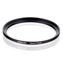 original RISE(UK) 72mm 77mm 72 77mm 72 to 77 Step Up Ring Filter Adapter black