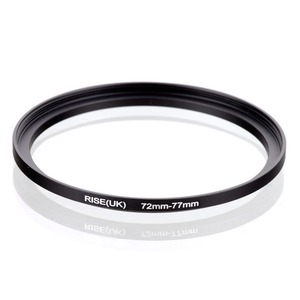 original RISE(UK) 72mm-77mm 72-77mm 72 to 77 Step Up Ring Filter Adapter black(China)