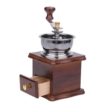 Holz und Metall Mühle Kaffeemaschine Schleifmaschinen Retro Mini Manuelle Kaffeemühle Handgemachte Grinder