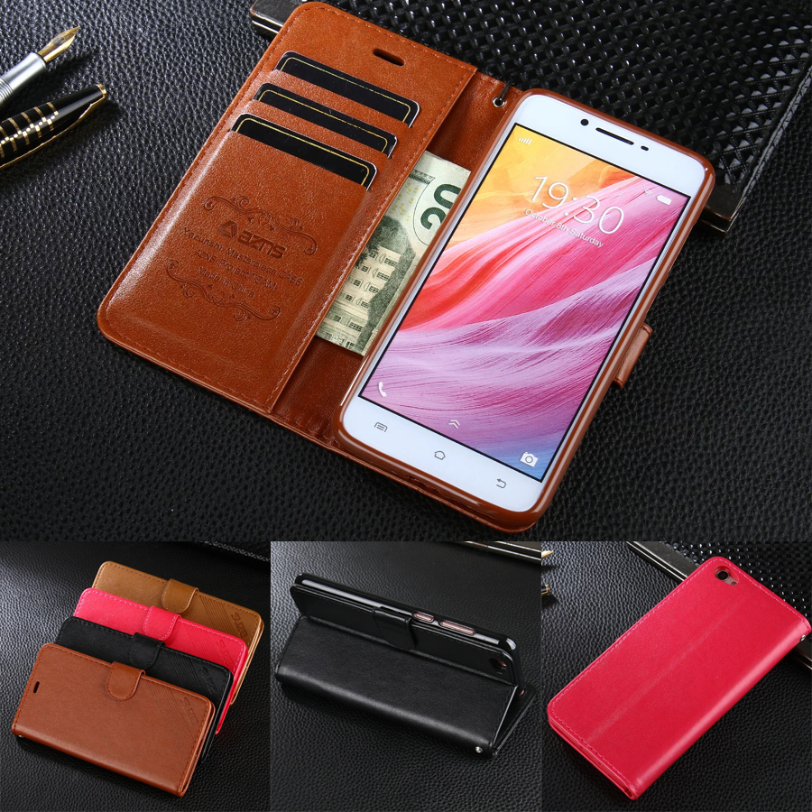 DIYABEI Case For Vivo Y55 5.2 Luxury Wallet PU Leather Case Stand Flip Card Hold Phone Cover Bags For Vivo Y55