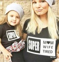 マッチング母娘服夏母息子衣装ミニbossファミリールックtシャツ半袖家族マッチング