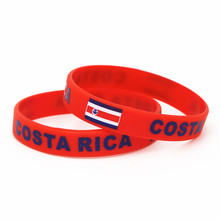 1PC Costa Rica Flag Silicone Wristband Red Football Sports Souvenir Silicone Rubber Bracelets&Bangles Gifts SH242 джинсы rica lewis 32 int 48 ru