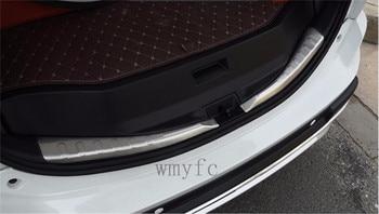2PCS/set For TOYOTA RAV4 2013-2017 2018 Car Styling Stainless Steel Rear Bumper Sill Trunk Door Sill Cover Sticker
