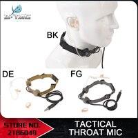 Z-tactical Z 033 táctica militar Caza Auricular Guardaespaldas Francotirador Throat Mic Auriculares Tubo Set de Auriculares