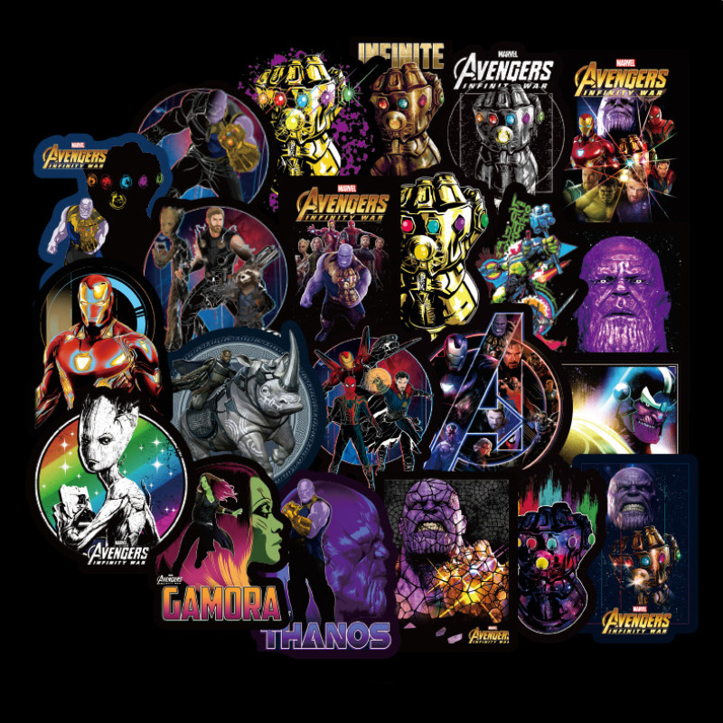 Funny Joy 54, 108 The Graffiti On The Sticker Superhero Skateboard Motorcycle Pull Rod Box Car  Avengers Cartoon Stickers