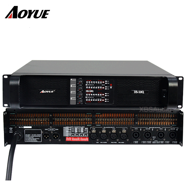 Amplifier 4 channels DS-10Q professional power amplifier factory omron eco temp basic термометр мс 246 ru