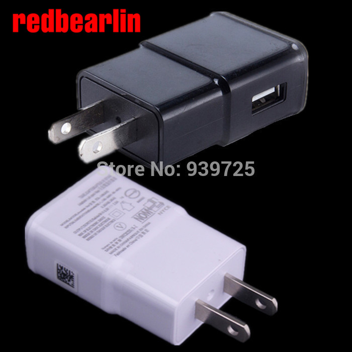 redbearlin 500pcslot 5V 2A EU US Wall charger adapter plug for samsung galaxy S3 S4 S5 S6 note 2 3 for iphone 4 5 6