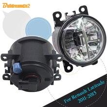 2011-2015 Renault Latitude Saloon Için Buildreamen2 L70 Araba Tasarım LED Lamba Sis Işık DRL gündüz çalışan far 12 V 2 Adet