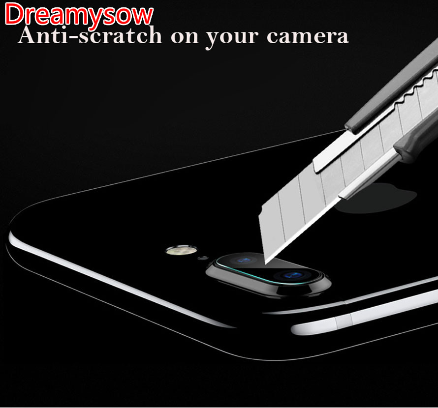 For iPhone 5/5S/SE X 7 8 6 6s Plus for iPod touch6 Accessory Back Camera Lens Screen Protector 9H Tempered Glass Full Cover Film