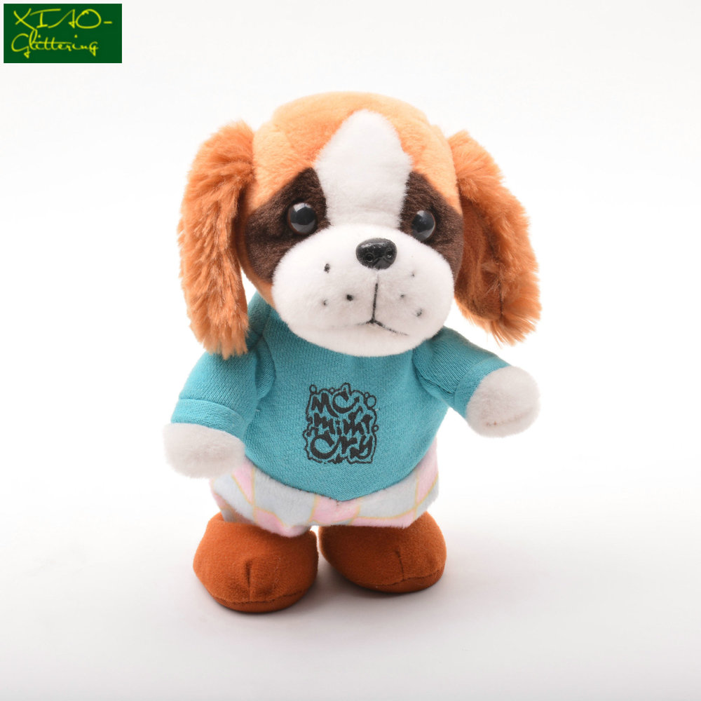 Electric plush interactive walking audio recording learn to talk doll puppy toys wholesale