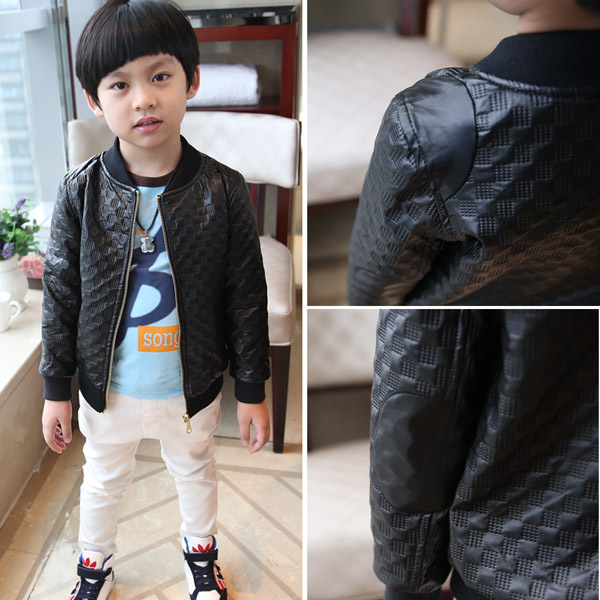 Korean Children And Children Leather Jacket Boy Baby Leather
