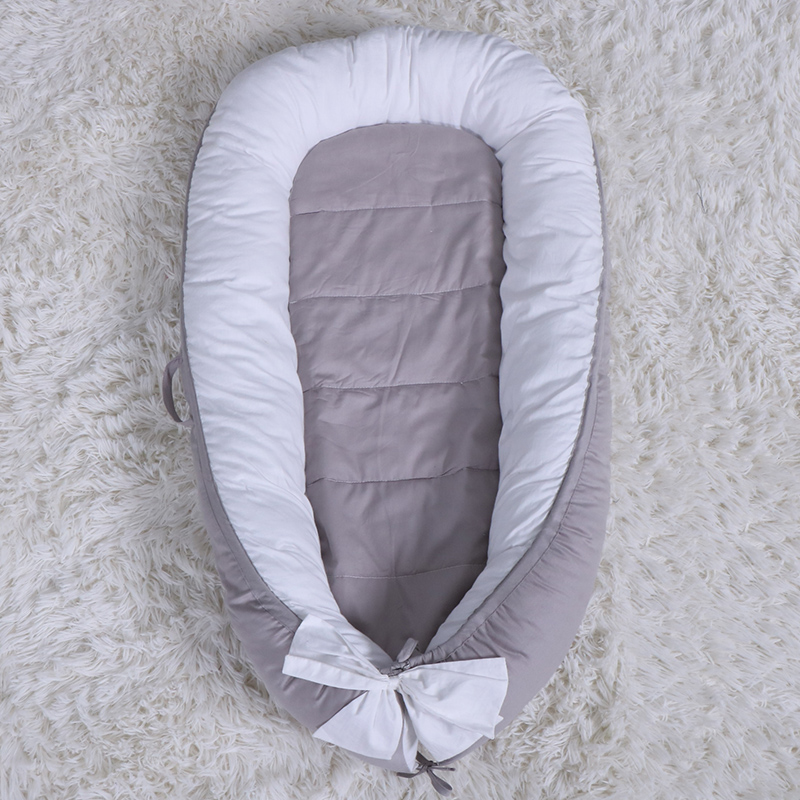 80*50cm Baby Nest Bed Travel Crib Baby Bed Infant CO Sleeping Cotton Cradle Portable Snuggle Newborn Baby Bassinet BB Artifact