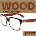 Óculos de madeira moldura de madeira pura madeira óculos frames de vidro