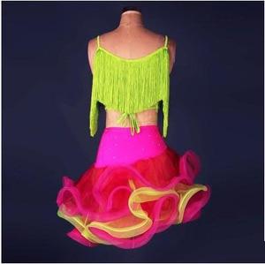 Image 3 - סלוניים שוליים ריקודים לטיניים נשים תחרות profi ציצית אלגנטי בכיר עבור בנות תחרות שמלות גבירותיי טנגו
