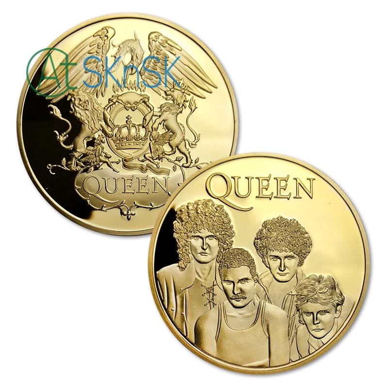 10pcs / lot, Brezplačna dostava Famous Band - Queen Gold Plated - Dekor za dom - Fotografija 1