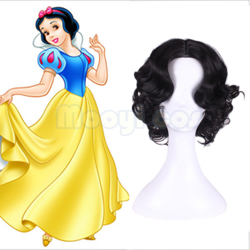 Princess Disney Princess Snow White Short Wave Curly Cos Anime Wig Girls Hair