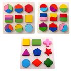 Kids 3D Wooden Puzzle Toys Colorful Geometry Shape Cognition Montessori Toy Children Wood Puzzle Games Learning Educational Toys