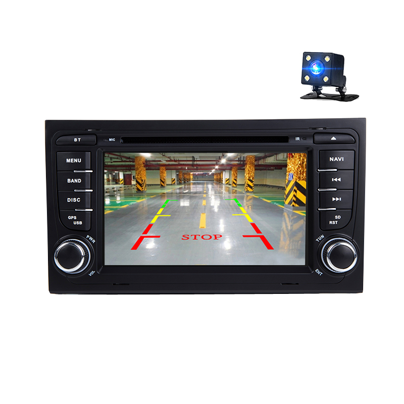 2 Din Car DVD Multimedia Player Stereo For Audi A4 2002