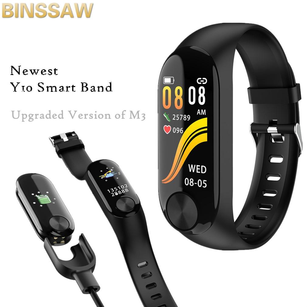 BINSSAW Y10 Smart Armband Farbe Bildschirm 85 mah Herz Rate Blutdruck Monitor Armband Info Erinnerung Smart Armband vs M3 + BOX