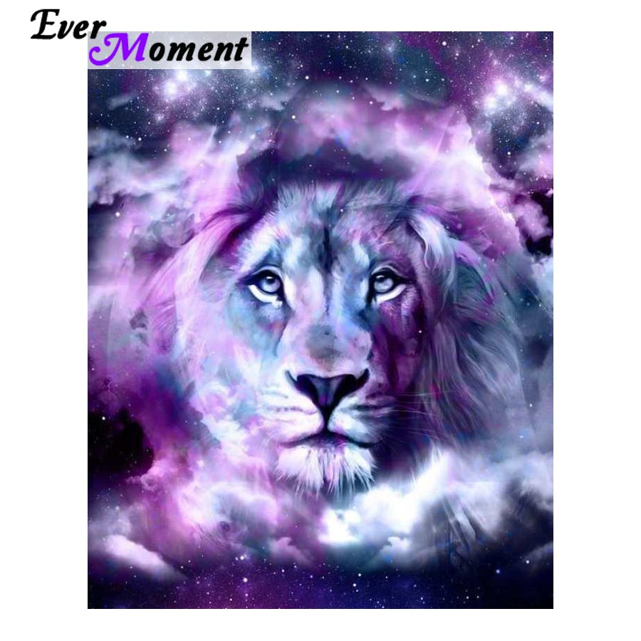 Ever Moment DIY Diamond Painting Cross Stitch Lion Stars Diamond Embroidery Rhinestones Full Mosaic Animal Craft ASF930Ever Moment DIY Diamond Painting Cross Stitch Lion Stars Diamond Embroidery Rhinestones Full Mosaic Animal Craft ASF930