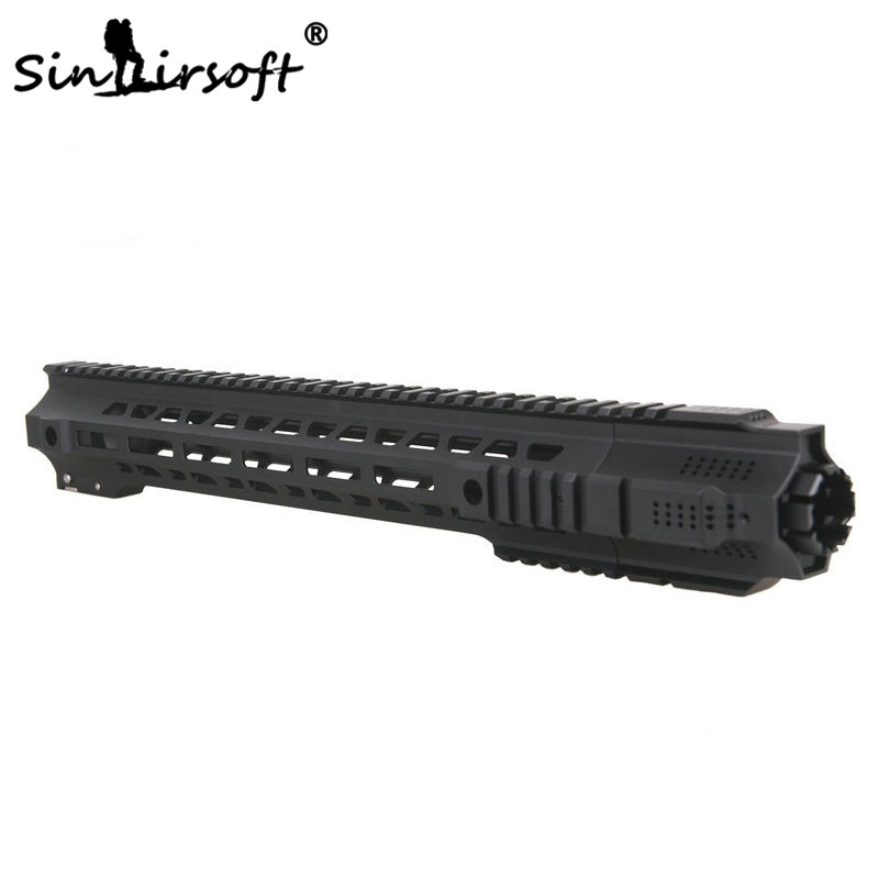 SINAIRSOFT New style Hunting Picatinny rail 14''/17'' HandGuard Rail System Black for Airsoft AEG M4/M16 free shipping hunting picatinny rail 4 25 inch handguard rail cqb tactical rail systems for aeg m4 m16