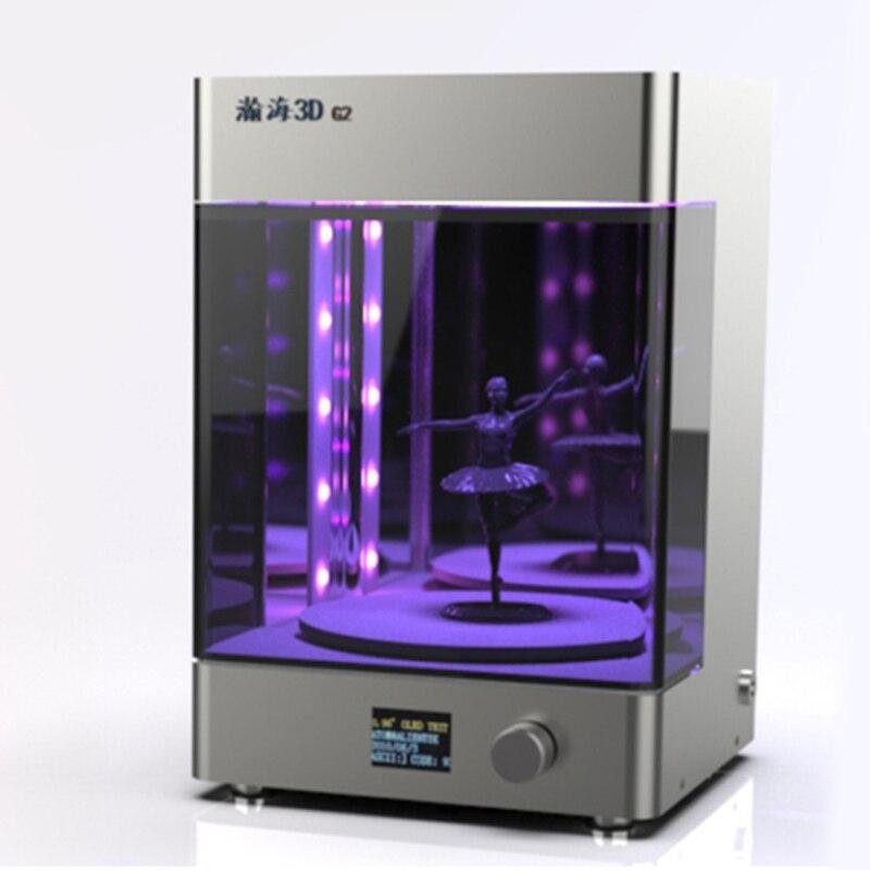 Impressora uv de Mesa luz 3D Tianfour led rotativa caixa de câmara de cura UV novo prototipagem rápida pós caixa de resina de cura cura