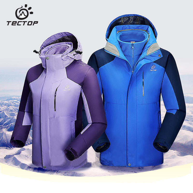 Tectop Waterproof Hiking Jacket Men and Women Windbreaker Outdoor Softshell Jacket Women Thermal Men Fleece Winter Jacket Men in yeson brand winter outdoor windbreaker for lovers waterproof thick thermal fleece liner ski hunting hiking jacket men women