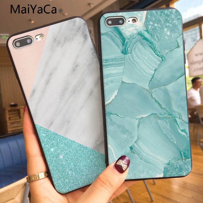 MaiYaCa Geometric triangle Customized pictures Soft Rubber Black Phone Case For Apple iphone 7 7plus X 8 8plus 6s 6 6plus 5s XR