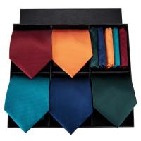 Hi Tie Designer Brand Classic Style Necktie For Men 100% Silk High Quality Solid Ties Hanky Cufflinks Set Box Set As Gift