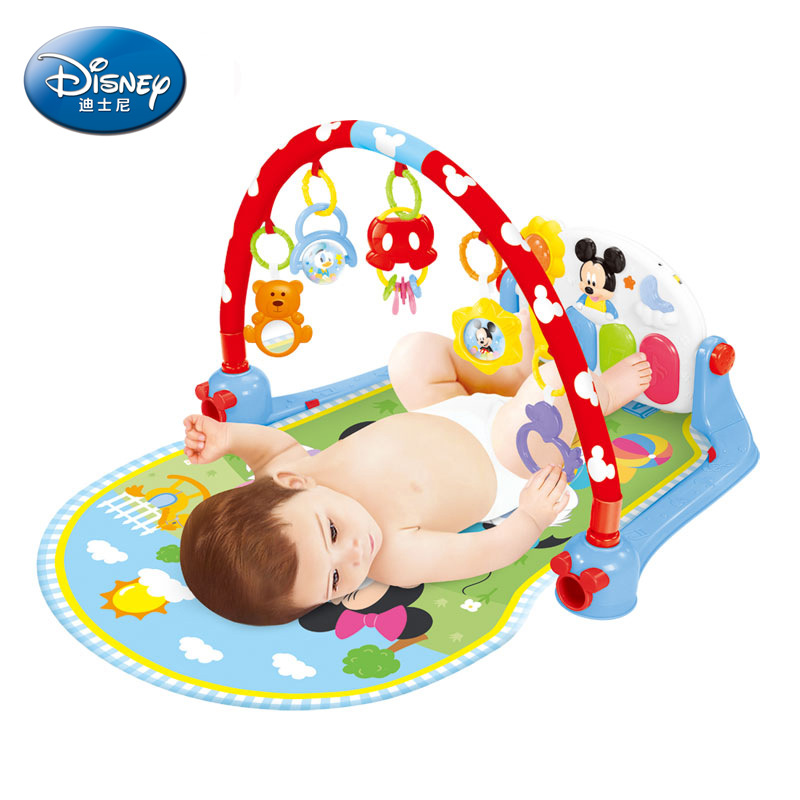 Disney play mat baby pedal piano fitness frame 0 1 years old newborn puzzle music game