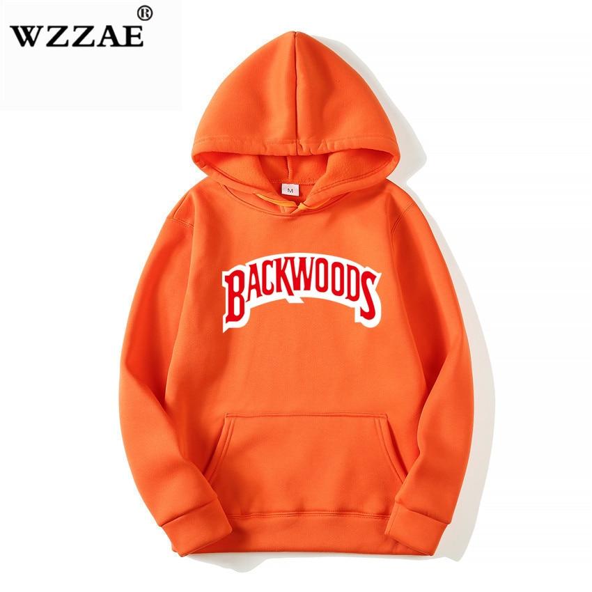 The screw thread cuff Hoodies Streetwear Backwoods Hoodie Sweatshirt Men Fashion autumn winter Hip Hop hoodie pullover Hoody 4