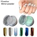 Verntion Shining Mirror Nail Glitter Powder 6 Colors Mirror Polish Glitter Set Gorgeous Nail Art Chrome Pigment Glitters