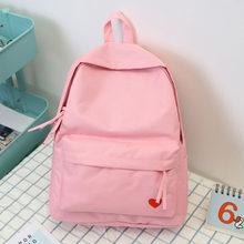 29fce95afb21 Women Back Bag Pink Yellow Black Khaki Book Bags Pack for School for Girls  Canvas Backpack Female Travel Shoulder Bag Rucksacks