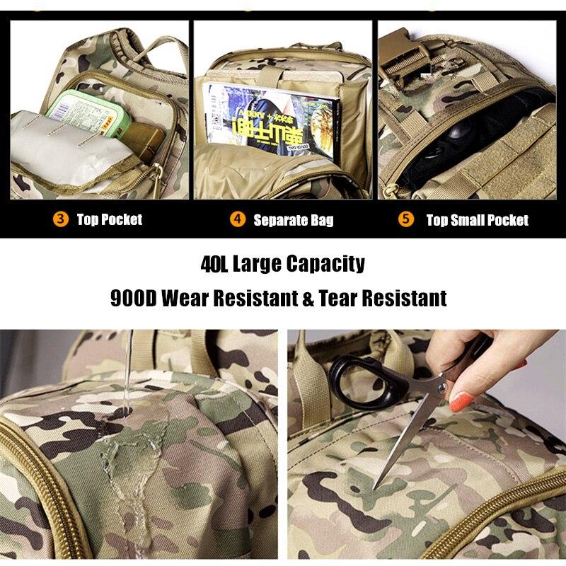 36L extérieur espadon sac à dos tactique Camouflage chasse alpinisme sac à dos Camouflage armée ventilateur sac - 3
