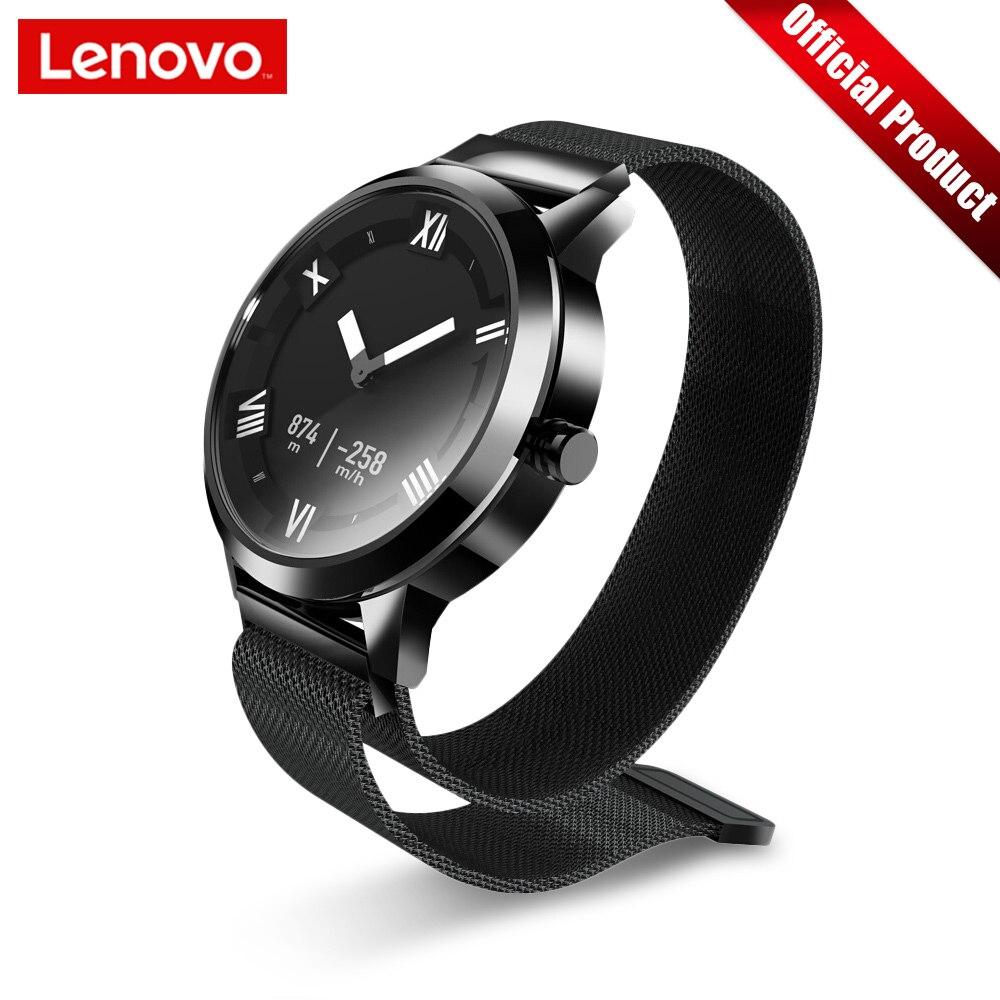 Lenovo Watch X Plus montre intelligente milanaise montre de mode OLED écran 80 M étanche fréquence cardiaque/pression d'air/surveillance de la température