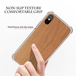 Image 2 - Suntaiho, carcasa de marco de Metal de madera de lujo para iphone XS Max, carcasa para teléfono iphone 7 Plus, funda XR X 7 8, funda para el iphone 8 Plus