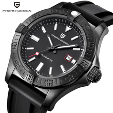 PAGANI DESIGN New Top Brand Luxury Mens Classic Rubber Strap Mechanical Watches casual waterproof 30M Automatic Date Clock 2019